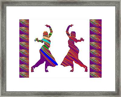 Framed Print featuring the photograph Folk Dance Sparkle Graphic Decorations by Navin Joshi