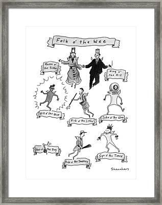 Folk O' The Wee Framed Print