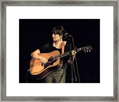 Folk Singer Pieta Brown Framed Print