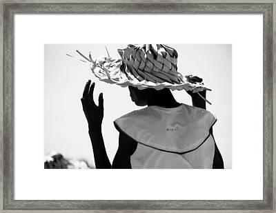 Folkloric Dancer Roatan Honduras Framed Print by David Coleman