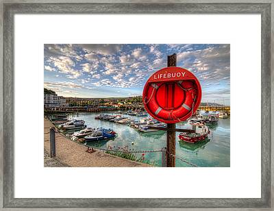 Framed Print featuring the photograph Folkstone Harbour by Tim Stanley