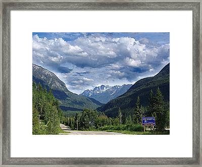 Follow A Country Road Framed Print