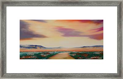 Follow Me Framed Print by Andrew Sanan