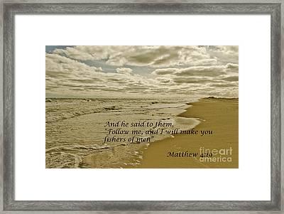 Follow Me Framed Print by Debra Johnson