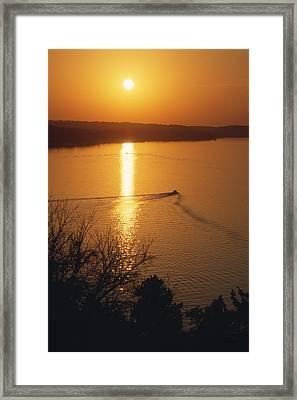 Follow Me Home - Lake Geneva Wisconsin Framed Print