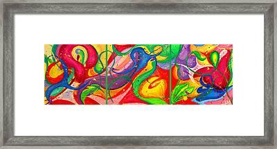 Follow Me Triptych Framed Print