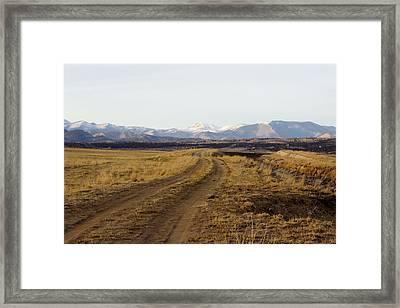Follow That Road Framed Print by Dana Moyer