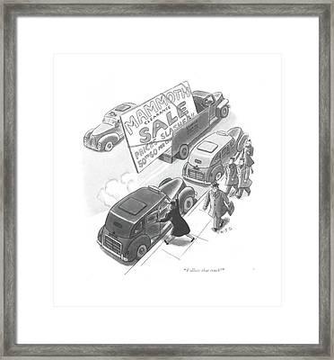 Follow That Truck! Framed Print