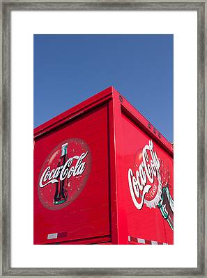 Follow That Truck Coca Cola Framed Print by Scott Campbell