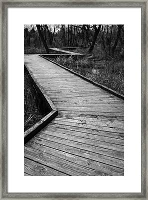 Follow The Boardwalk Framed Print