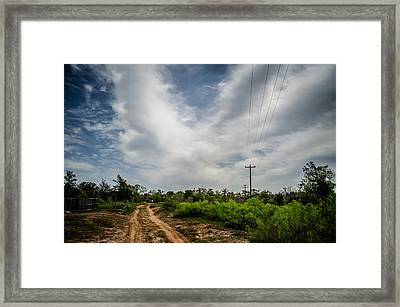 Follow The Dirt Road Home Framed Print by Kelly Kitchens