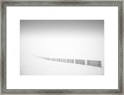 Follow The Fence Framed Print by Dominique Dubied