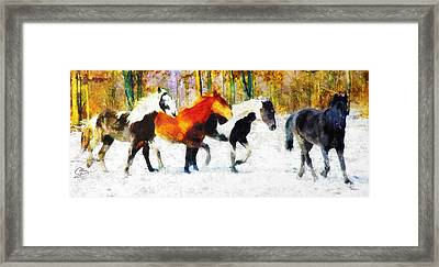 Framed Print featuring the painting Follow The Leader by Greg Collins