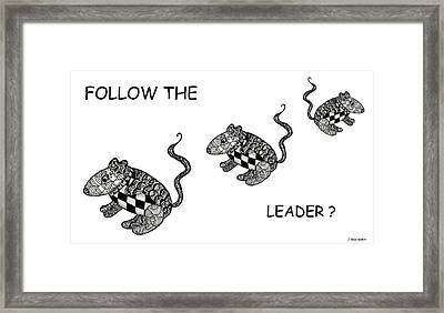 Follow The Leader Framed Print by Jo-Anne Gazo-McKim