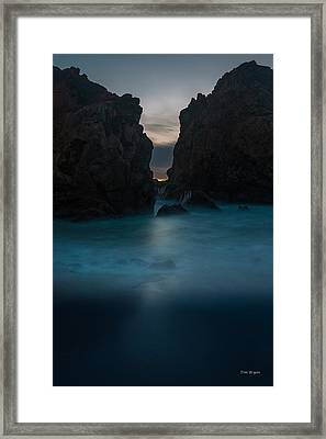 Follow The Light.... Big Sur Framed Print