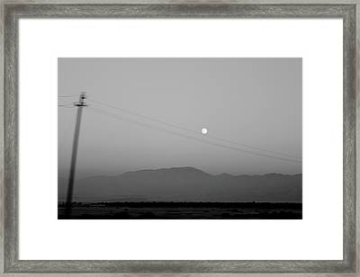 Follow The Moon Framed Print