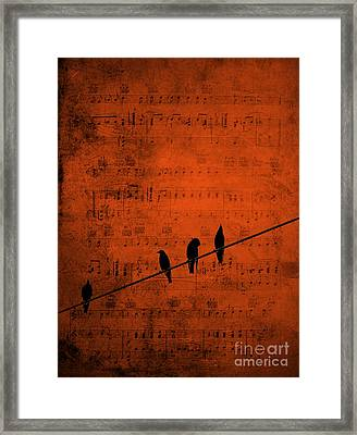 Follow The Music Framed Print
