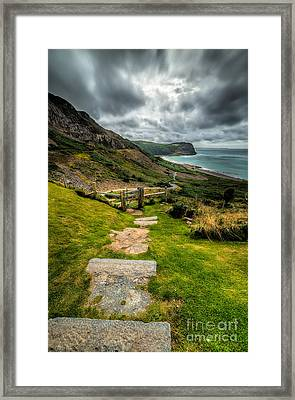 Follow The Path Framed Print by Adrian Evans
