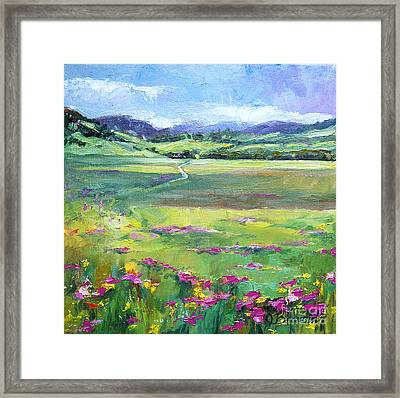 Follow The Path Framed Print by Jennifer Beaudet