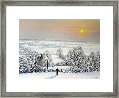 Follow The Path Framed Print by Rosemary Colyer