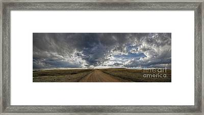 Follow The Road Framed Print
