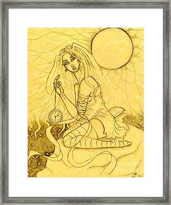 Follow The White Rabbit Framed Print by Coriander  Shea