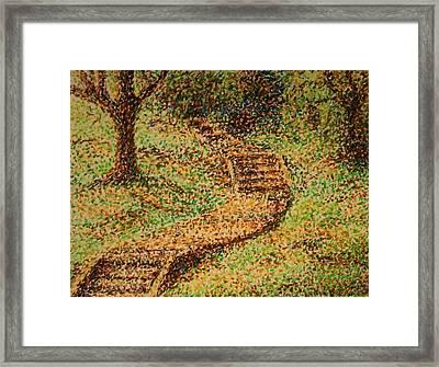 Follow The Yellow Brick Road Framed Print