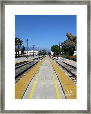 Follow The Yellow Brick Road. Santa Barbara. California. Framed Print