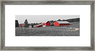 Follow The Yellow Dirt Road Framed Print