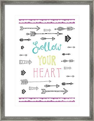 Follow Your Heart Framed Print by Susan Claire