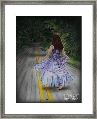 Follow Your Path Framed Print by Jackie Mestrom
