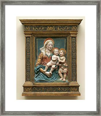 Follower Of Andrea Del Verrocchio, Virgin And Child Framed Print by Quint Lox