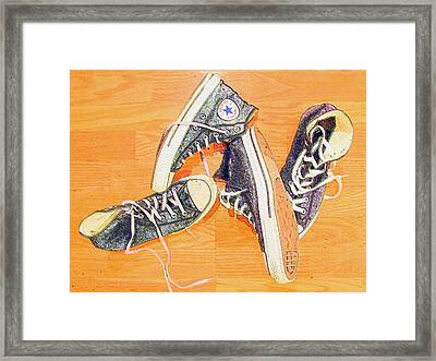Following In The Footsteps Framed Print