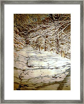 Following Max Framed Print by Thomas Akers