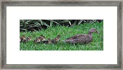 Following Mommy II Framed Print