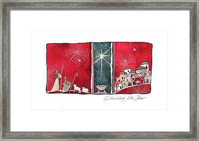 Following The Star Framed Print by P.s. Art Studios