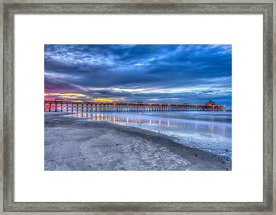 Folly Beach Fishing Pier Framed Print by Keith Allen