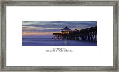 Folly Beach Pier Charleston Sc Framed Print