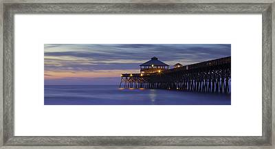 Folly Beach Pier Framed Print