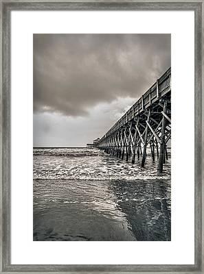 Framed Print featuring the photograph Folly Beach Pier by Sennie Pierson