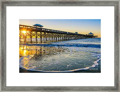 Folly Beach Sunrise Framed Print