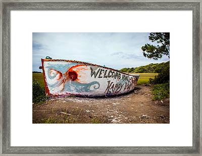 Framed Print featuring the photograph Folly Boat by Sennie Pierson