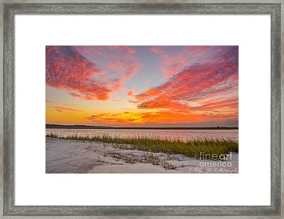 Folly October Sky X Sunset Framed Print by Philip Jr Photography