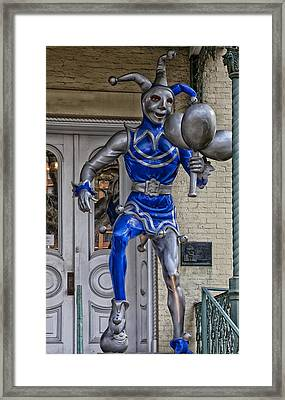 Folly Statue At The Mardi Gras Museum - Mobile Alabama Framed Print by Mountain Dreams