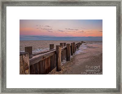 Folly Sunset Framed Print by Philip Jr Photography