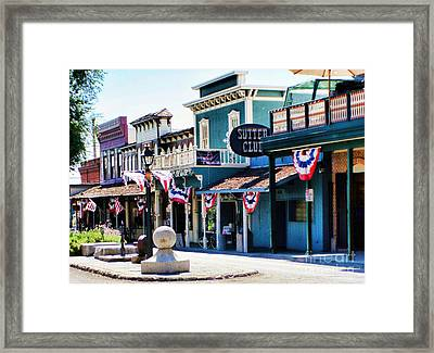Framed Print featuring the photograph Folsom California Usa by Polly Peacock