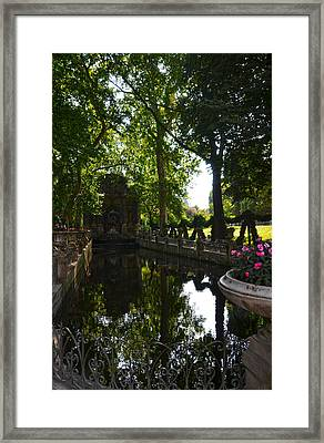 Fontaine De Medicis In Jardin Du Luxembourg - Paris Framed Print by RicardMN Photography