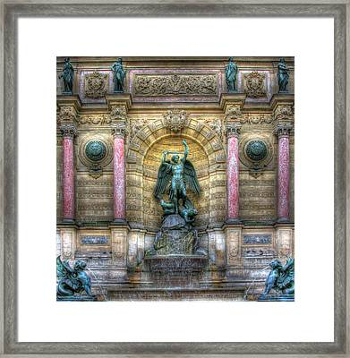Fontaine Saint Michel Framed Print