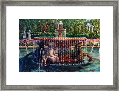 Fontana Cavalli Marini Framed Print by Artur Guzina