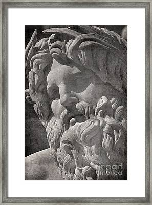 Fontana Dei Quattro Fiumi - River Ganges Framed Print by Rod McLean